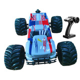 Brushless 1/10 Hobby RC car Electric Monster truck 80km/h (80A) with white
