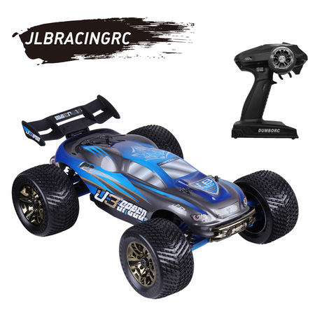 JLBRACINGRC 1/10 Scale 4WD RC Car Electric Racing Monster Truck(RTR) with High Speed of 100 KM(blue)