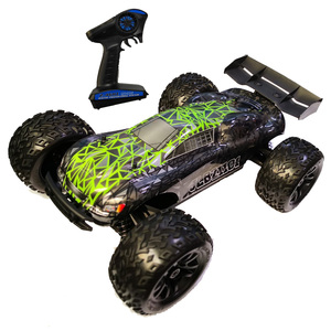 Speed 80KM/H Violence somersault 1:10 Electric Off Road RC car Remote Control (120A) with green