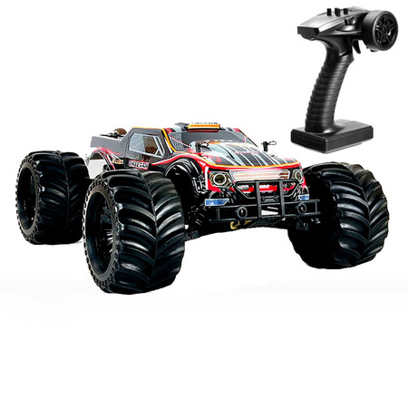 1/10 Electric Brushless monster truck Hobby RC car Metal chassis with black
